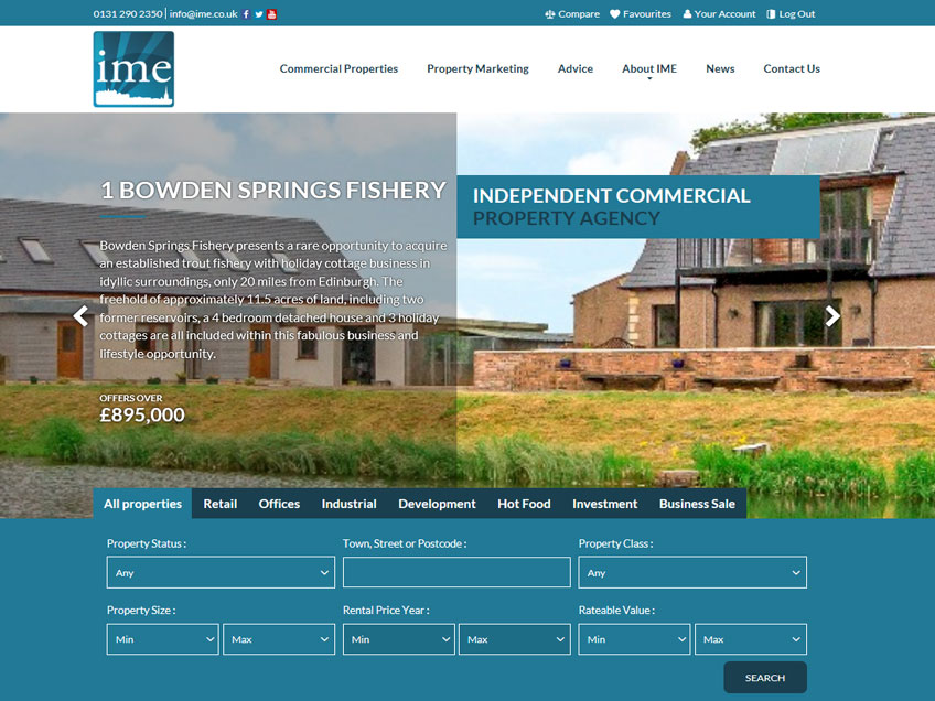 New website launched by IME Property